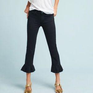 PAIGE Rafaela Ruffle Raw Hem Ankle jeans